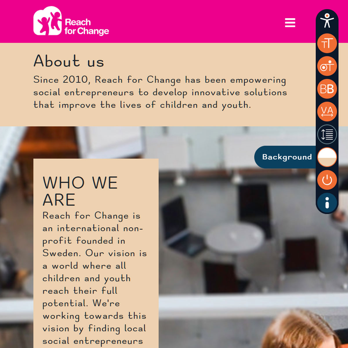web accessibility client Reach For Change